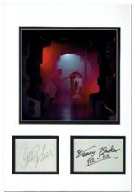 Carrie Fisher & Kenny Baker Autograph Signed Display - Star Wars